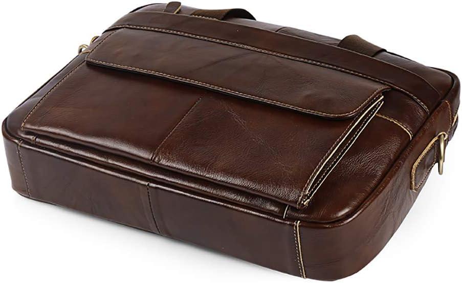 MIJNUX Mens Business Briefcase Crossbody Bag Mens Travel Laptop One Shoulder Crossbody Bag