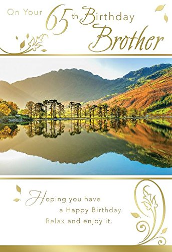 On Your 65th Birthday Brother Lake Design Happy Card Amazoncouk Kitchen Home