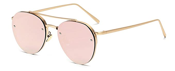 ae240129fe Aviator Gold Rose Mirror Lens Pink Metal Designer Fashion Sunglasses Men's  Women's Non-Prescription OWL