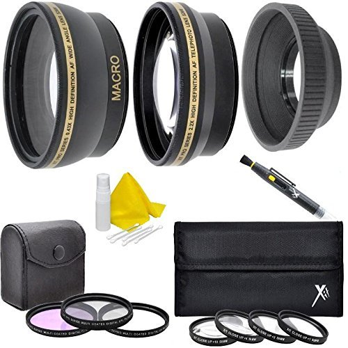 40.5mm Lens Filter Kit (Wide Angle, Telephoto, Filters, Macro Kit, Lens Hood) For For Samsung NX2000 NX1100 NX1000 NX500 NX300 NX210 NX200 NX110 NX100 NX30 NX20 NX11 20-50mm (Samsung Nx1000 Accessories)