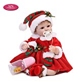 Decdeal Silicone Realistic Baby Doll Play House Game Toys Christmas Gift 16inch