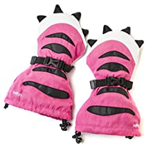 Veyo Kids - Pink Tiger Paw Mittyz | Waterproof Kids Mittens | Toddler Gloves | Easy on, Stay on, | Perfect for Snow Skiing, Sledding, and Winter Play