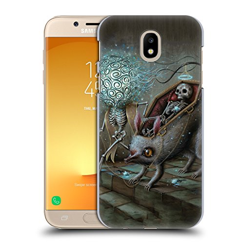 Official Jason Limon No Mans Land Skull Hard Back Case for Samsung Galaxy J7 2017 / Pro