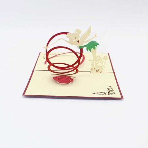 YAOJII Tarjeta emergente 3D Tarjeta de felicitación de ...