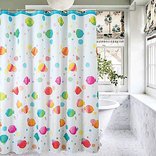 rainbow fish shower curtain - 4