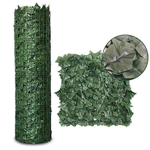 (Goasis Lawn Artificial Hedge Fence Panels Topiary Hedge Boxwood Plant Privacy Screen Outdoor Indoor Use Garden Fence Backyard Home Decor Greenery Walls, 4 Rolls)