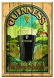 Guinness 'Taste of Ireland' Wooden Wall Art - Bar Sign Decor