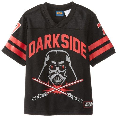 Jersey Football Boys Shirt - Star Wars Little Boys' Football Jersey T-Shirt, Black, 7