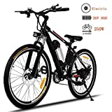 emdaot 26'' Power Plus Electric Mountain Bike 21 Speed 36V 8A Lithium Battery Electric Bicycle for Adult