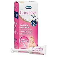 Conceive Plus Fertility-Friendly Lubricant - Aplicadores precargados de 8 x 4 gramos, Crema hidratante vaginal de fertilidad No dañará el esperma