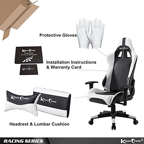 KingCore 2017 New Design High Back Reclining Swivel Gaming Computer ...