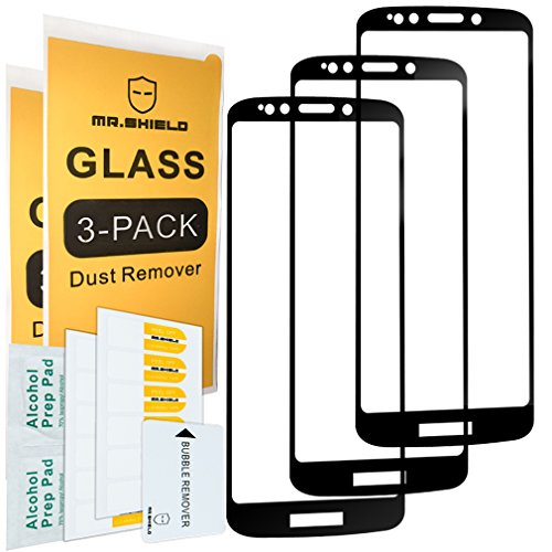 [3-PACK]-Mr Shield For Motorola Moto G6 Play [Full Cover] Screen Protector with Lifetime Replacement Warranty