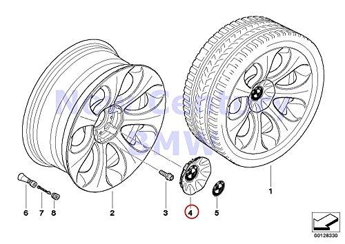 bmw wheel caps black - 7