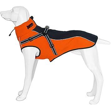 Abrigo para Perros con Arnés Integrado para Mediano y Grande Chaqueta Traje Refectante Caliente en Invierno