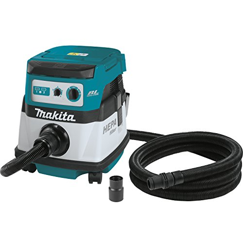 - Makita XCV07ZX 18V X2 LXT Lithium-Ion Brushless Cordless 2.1 gallon HEPA Filter Dry Dust Extractor/Vacuum - Tool Only