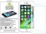 Cuddle  5D Full Body Premium Tempered Glass (with 1 Year Warranty) Screen Protector for I Phone 8 Plus with Installation kit (White)