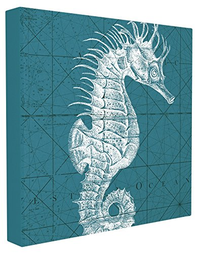 The-Stupell-Home-Decor-Collection-Distressed-White-Teal-Seahorse-Stretched-Canvas-Wall-Art