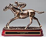 Horse & Jockey Resin Sculputure Award LARGE 9 1/2'' Race Horse