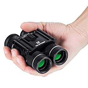 QUNSE Mini Binoculars Compact Design, Clear Optical Lens, Ultra-Vision, for Bird Watching 10x25 Pocket Size