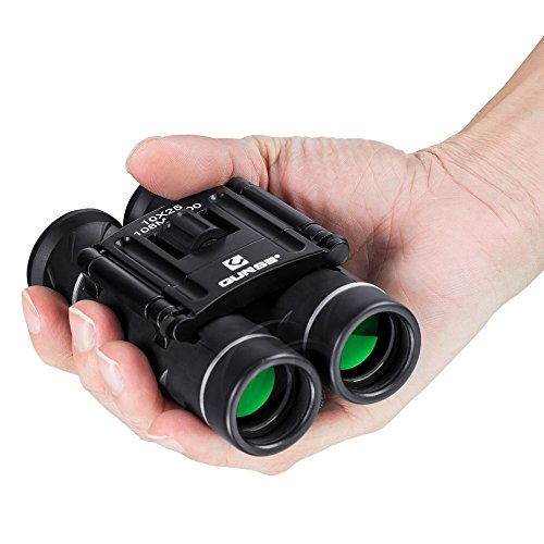 QUNSE Mini Binoculars Compact Design, with Clear Optical Lens, Ultra-Vision, for Bird Watching, for Hunting and Outdoor Sports Games, 10x25 Pocket Size for Adults and Kids