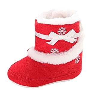 For 0 18Months Girls Clode Baby Christmas Soft Sole Snow Boots Soft Crib Shoes Toddler Boots