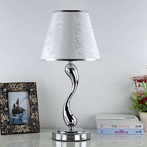 Unbekannt Set Tischlampe-minimalistische Moderne kreative Persönlichkeit Edelstahl Continental stilvolle Dekoration Lampe warm dimmen Schlafzimmer Hotel Nachttischlampe