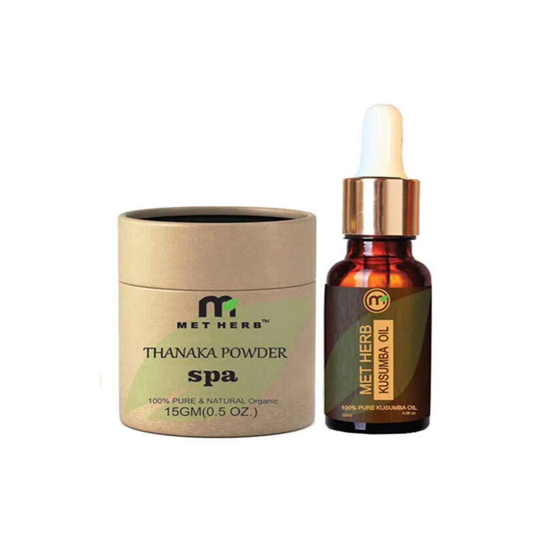 Pure & Natural Thanaka powder 15g & Kusumba oil 15ml for permanent hair removal Eco-Friendly Packing