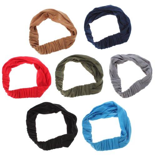 OUTERDO Moderne Haarband Stirnband Kopftuch Headband Kopfband fuer Sport Yoga Joggen Freizeit Marine