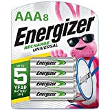 Energizer Rechargeable AAA Batteries, 700 mAh NiMH, Pre-charged, Chargeable for 1,000 Cycles, 8 Count