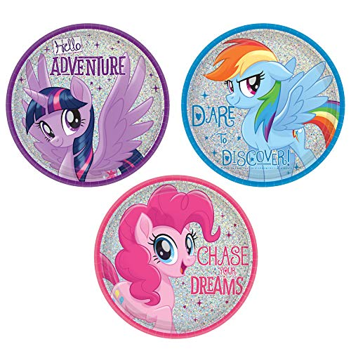 (Amscan MLP Friendship Adventures 7 Dessert Plate (8) )