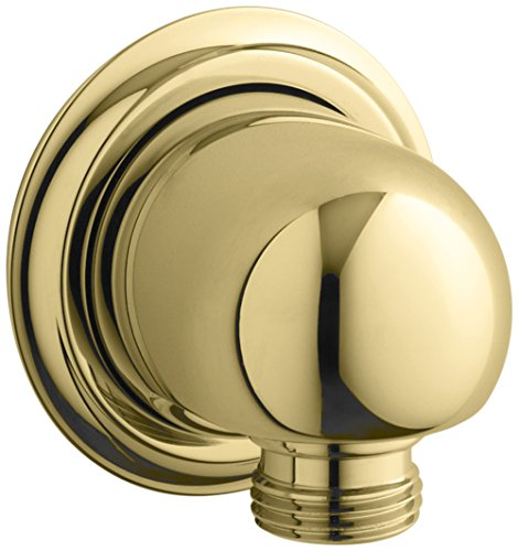 KOHLER K-355-PB Forté Supply elbow, Vibrant Polished Brass