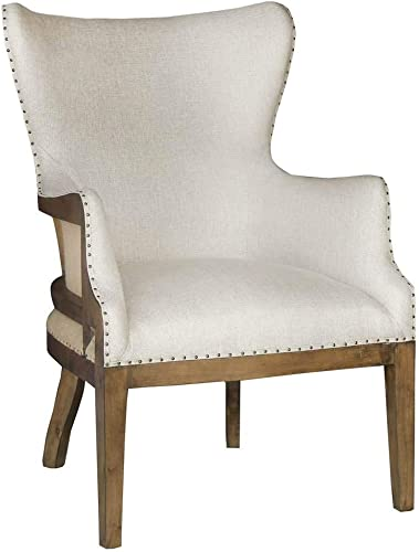 Pulaski Curved Back Arm Chair-Linen Accent Seating