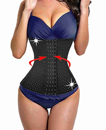 Waist Shaper and fat burner after pregnancy full body bodysuit women plus size invisible no zipper seamless hook cincher shaper slimmer corset hook front (XL, Black(3-5 days delivery))