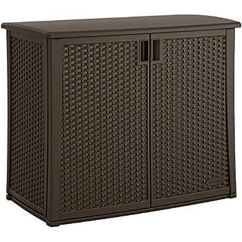 Amazon Com Suncast Elements Outdoor Wide Cabinet 40