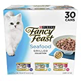 Purina Fancy Feast Grilled Seafood Collection Wet Cat Food Variety Pack - Thirty (30) 3 oz. Cans