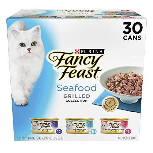 Fancy Feast Grill Seafood Feast Variety Wet Cat Food, 3 Oz,