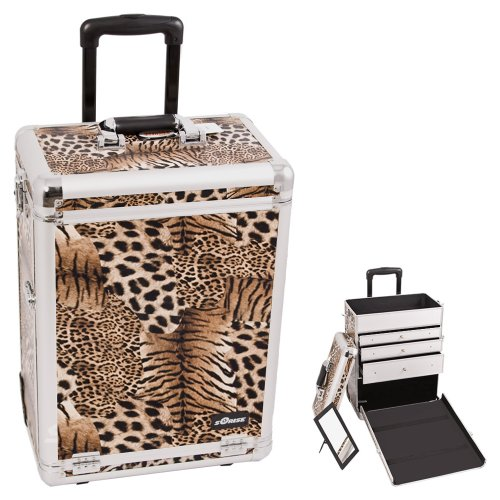 Sunrise Brown Interchangeable Leopard Textured Printing Professional Inline Stak (Flapper Makeup Kit)