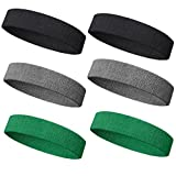 Meanch Wristband Perfect for Basketball, Running Football Tennis- 6PCS/ 3PCS Terry Cloth Athletic Sweatbands Fits to Men and Women