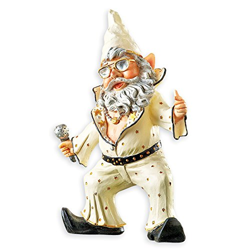 Collections Party Gnomes Funny Outdoor Garden Statue Figurines, Singer