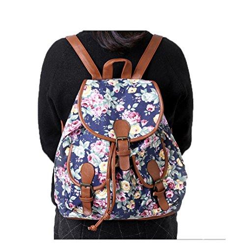 School Canvas High 6 Student Schoolbag New Shoulder Bag Backpack School Style Fashion Female Bag FWAxRf