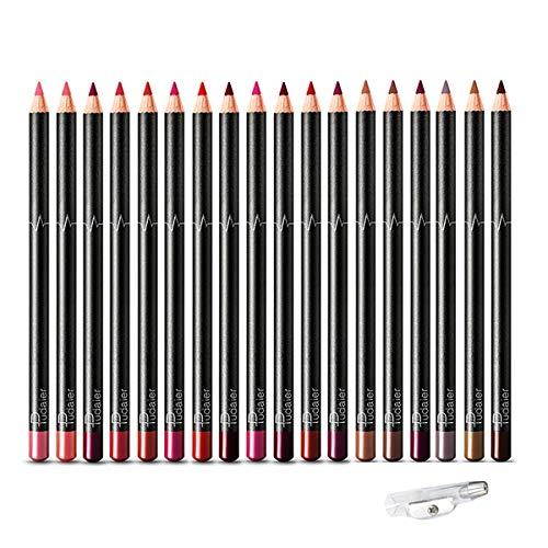 DC-BEAUTIFUL 18 Colors Lip Liners Pencil Set, Premium Waterproof Smooth Lip Pencils, Long Lasting Matte Makeup Lipliners…