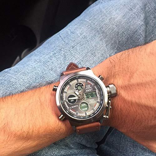 Bundles of 2,AMST Men Watch Multifunction Outdoor Sports Waterproof Wrist Watch