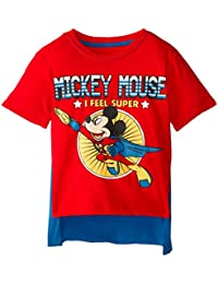 Boys Mickey Mouse Super Short Sleeve Cape T-Shirt