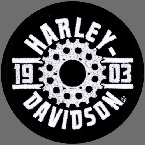 Sprocket Trim (HARLEY DAVIDSON OVAL SPROCKET 4 INCH HARLEY PATCH)