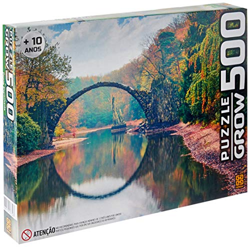Grow 03732 Puzzle Ponte Espelhada, 500 peças