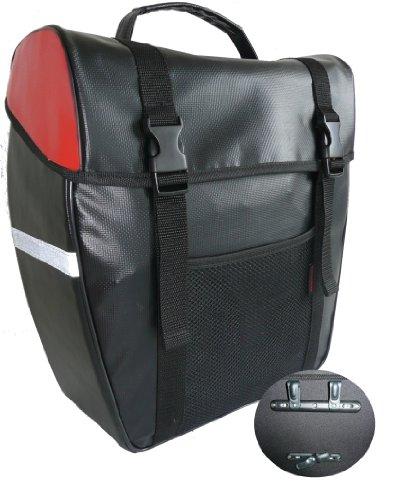 amaro Herren Gepäcktasche Stabile, schwarz-rot, 32,5 x 37 x 16 cm