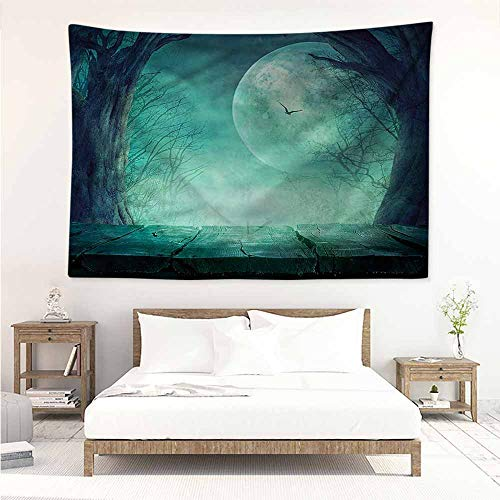 Decorative Tapestry,Halloween Spooky Forest Halloween,Large Tapestry,W84x54L ()