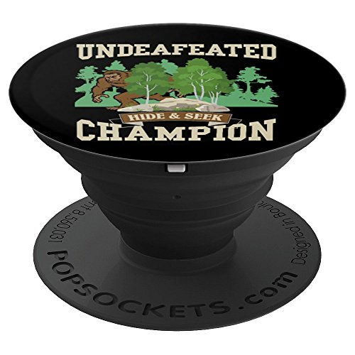 - Funny Bigfoot Yeti Undefeated Hide & Seek Champion - PopSockets Grip and Stand for Phones and Tablets