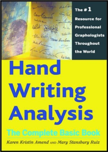 Hand Writing Analysis: The Complete Basic Book by Karen Kristin Amend - Mall Pentagon Shopping