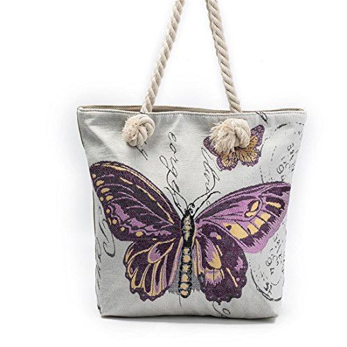 pintura bolso bolsa Multicolor1 bolsos mensajero Luckywe Mariposa Lona moda mujeres lazo Diseñador Crossbody de Cfxq1wHa